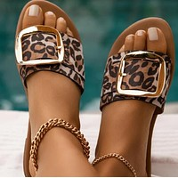 New hot sale all-match flat bottom breathable buckle sandals shoes
