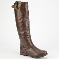 Bamboo Montage Womens Boots Brown  In Sizes