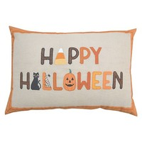 Celebrate Halloween Together Happy Halloween Fun Letters Throw Pillow