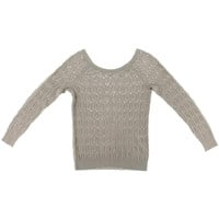 Magaschoni Womens Silk Embellished Pullover Sweater