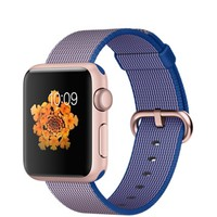 Apple Watch Sport - 38mm Rose Gold Aluminum Case with Royal Blue Woven Nylon