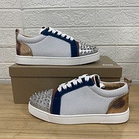 Christian louboutin  Fashion Men Women's Casual Running Sport Shoes Sneakers Slipper Sandals High Heels Shoes