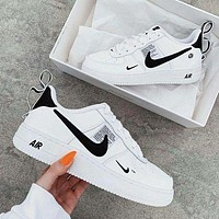 NIKE AIR FORCE 1 DUMR Fashion New Hook Women Men Sports Leisure Running Shoes White