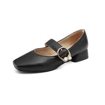 Girls Low Heeled Mary Janes Shoes