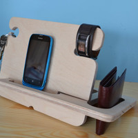 Anniversary Gifts for Men, Christmas Gifts For Men, Gift For Dad, iPhone Docking Station, Mens Gift, Birthday Gifts For Him, Boyfriend Gifts