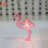 Flamingo lights 10 LED string light fairy Party  Wedding home decorative AA battery box  girl room decoration patio lantern