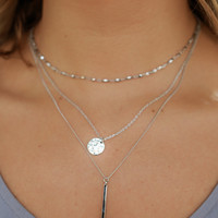 Blissful Moments Necklace - Silver