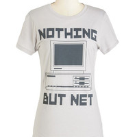 ModCloth Nifty Nerd Mid-length Short Sleeves Troubleshoot and Score Tee