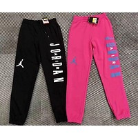 Nike Air Jordan Popular Women Men Leisure Print Sport Pants Trousers Sweatpants(2-Color) I