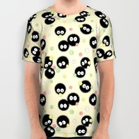 Spirited Away Soot Sprites with Konpeito Sugar Candy All Over Print Shirt by Pi Design Prints