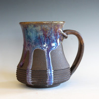 DISCOUNTED Coffee Mug, 16 oz, handmade ceramic cup, handthrown mug, ceramic stoneware pottery mug unique coffee mug ceramics and pottery