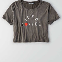 Don't Ask Why Cropped Graphic T-Shirt, Black