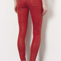 MOTO Red Coated Leigh Jeans