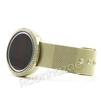 Men Digital Smart Watch Mash Band 14K Gold Silver PT Smart Watch F28GS