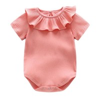 bibicola  New Baby Rompers Short Sleeve 100% Cotton Newborn Baby Jumpsuits Clothing  Baby Boy and Girl Clothes