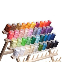 40 Spools Polyester Embroidery Machine Thread Art Sewing Polyester Fabric Yarn