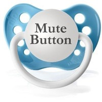 Amazon.com: Mute Button Pacifier (Baby Blue): Baby