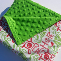 Peace, Hope and Joy Minky Bubble Baby/Toddler Blanket