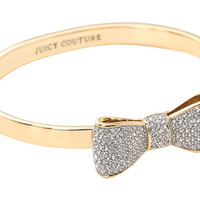 Juicy Couture Pave Bow Hinge Bangle