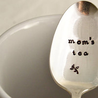 mom's tea, teaspoon-silver plated- Mother's day gift- gift for mom.