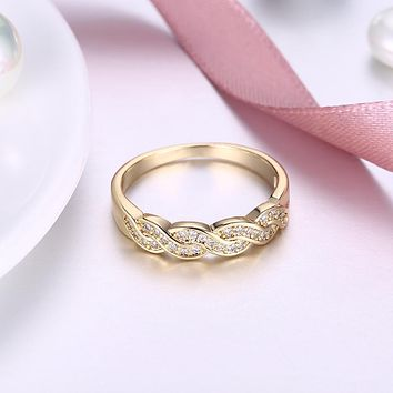 Swarovski Intertwined Braided Swirl Band Ring