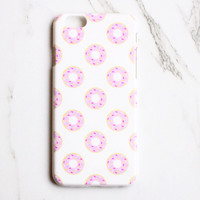 Pink Sprinkled Donuts iPhone Case