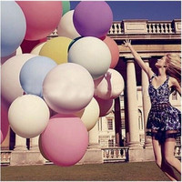 "36"" Colorful Giant Big Balloon Latex Birthday Wedding Party Helium Decoration = 1933027588"