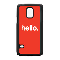 Hello Black Hard Plastic Case for Samsung Galaxy S5 Mini by textGuy