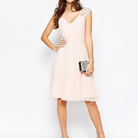 Elise Ryan Lace Midi Prom Dress