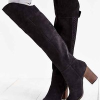 Dolce Vita Myer Braided Tall Boot- Charcoal