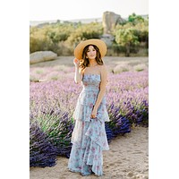 Florence Sleeveless Tiered Maxi Dress