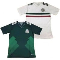 Mexico home away soccer jersey thai quality 2017 2018 Mexico green white shirt CHICHAR