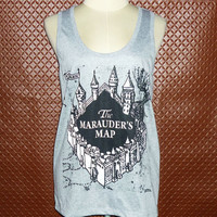 Women Workout T-Shirt the marauder's map Shirt Harry Potter tank tops ladies t-shirt\ vest tops \ sleeveles \ Work Out Clothes \Exercise Tee