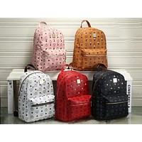 MCM Fashion backpacks rivet bags large capacity lovers backpacks for men and women