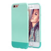 iPhone 6s Case, MOOST Slider Style Hard Protective Case Cover for iPhone 6 / iPhone 6s (4.7inch) (Light Blue / Green)