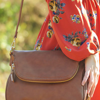 Highs & Lows Purse: Cognac