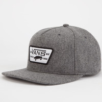 Vans Full Patch Mens Snapback Hat Grey One Size For Men 24688411501