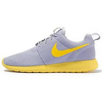 """NIKE"" Trending Fashion Casual Sports Shoes Grey yellow soles"