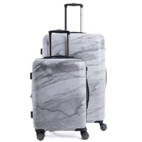 Astyll 2-Piece Luggage Set in Milk Marble