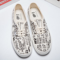 Trendsetter VANS X COMME des GARCONS Canvas Old Skool Flats Sneakers Sport Shoes