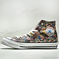 Converse All Star 100 HI High Quality New Fashion Anime Print Canvas High Top Women Men Shoes