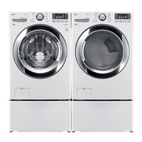 Shop LG 4.3-cu ft High-Efficiency Stackable Front-Load Washer with Steam Cycle (White) ENERGY STAR at Lowe's