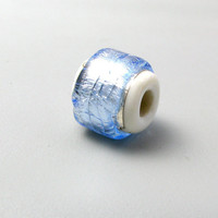 handmade lampwork Large Hole Charm Bead Foil by TheBeadYouNeed