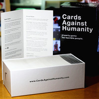 Antistress Game 550pcs Cards Against Human Board Games Play Funny POP Tricks Fight Against Humanities Halloween Party Jokes Toys
