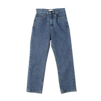 Medium Wash Ankle Cut Jeans (Blue) | STYLENANDA
