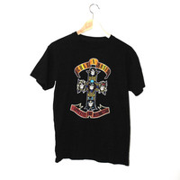 Guns n Roses band Tshirt vintage GnR appetite for destuction rock tee medium