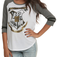 Harry Potter Gold Hogwarts Girls Raglan