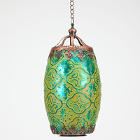 Large Glass Lantern Green One Size For Women 24531050001
