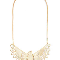 ModCloth Statement Whimsical Wingspan Necklace