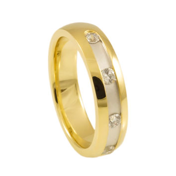 Yellow Gold Plated silver wedding rings for Woman
